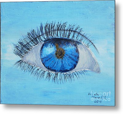 Metal Print featuring the painting Mystic Eye by Pamela  Meredith