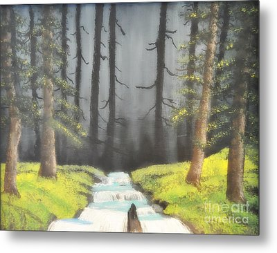 Mystic Forest Metal Print