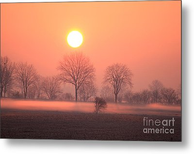 Mystic Red Sunrise Metal Print