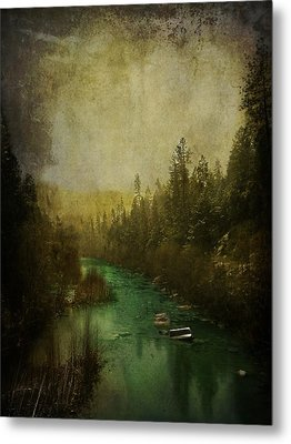 Mystic River Metal Print by Leah Moore