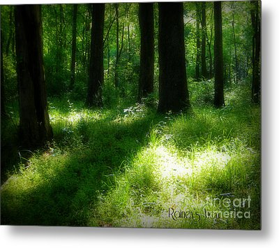 Mystical Forest Metal Print by Lorraine Heath