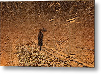 Mystical Journey Of The Shadow Of Your Soul In Extraneous World Metal Print