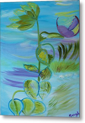 Metal Print featuring the painting Mystical Moods by Meryl Goudey