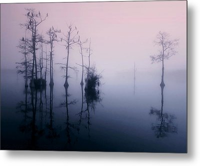 Mystical Morning On The Lake Metal Print