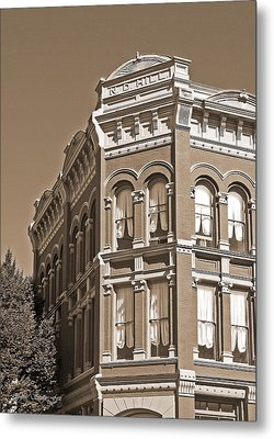 N. D. Hill Building. Port Townsend Historic District  Metal Print by Connie Fox