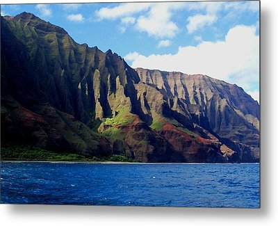 Na Pali Coast On Kauai Metal Print