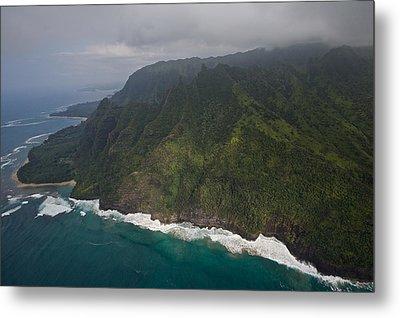 Na Pali Shore Kauai Metal Print by Steven Lapkin