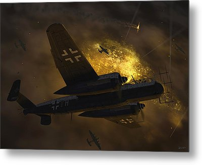 Nachtjagd Over Berlin Metal Print