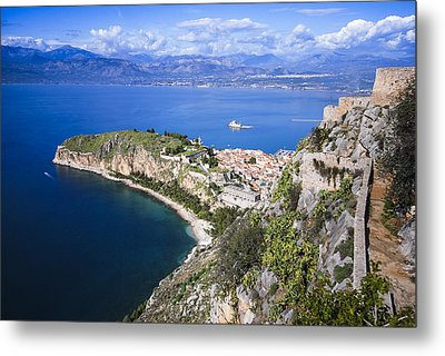 Nafplio Peninsula Metal Print by David Waldo