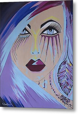 Metal Print featuring the painting Naira by Kathleen Sartoris