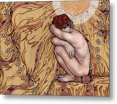Naked Man In A Clothed World Metal Print