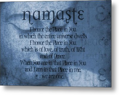 Namaste Blue Metal Print by Dan Sproul