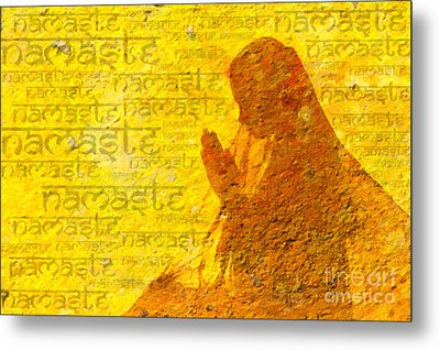 Namaste  Metal Print by Tim Gainey