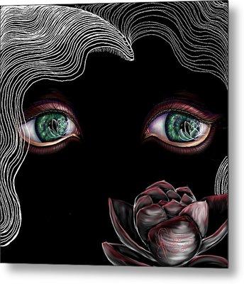Metal Print featuring the digital art Namaste by Yolanda Raker