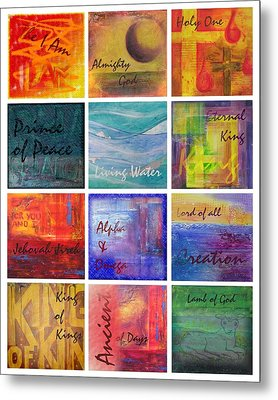 Metal Print featuring the painting Names Of God by Jocelyn Friis