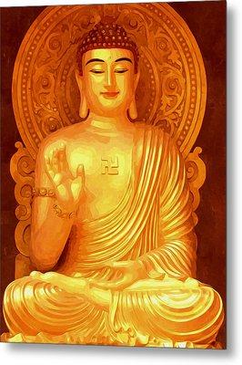 Namo Amitabha Buddha 36 Metal Print by Lanjee Chee