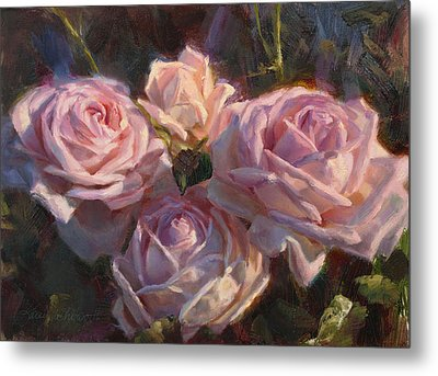Nana's Roses Metal Print by Karen Whitworth