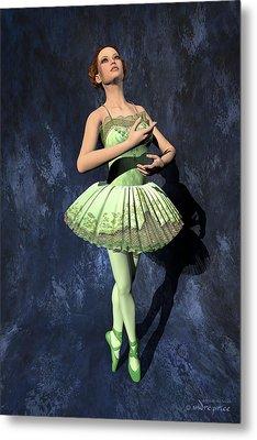Nanashi - Ballerina Portrait Metal Print by Andre Price
