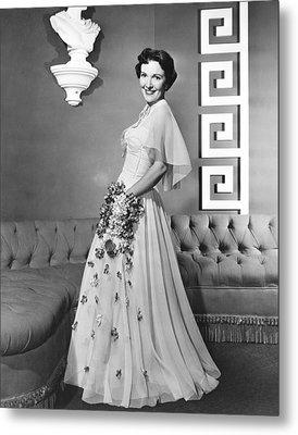 Nancy Davis, Aka Nancy Reagan, Modeling Metal Print