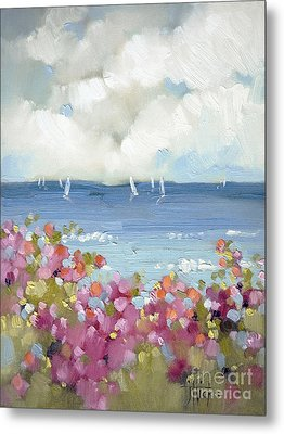 Nantucket Sea Roses Metal Print