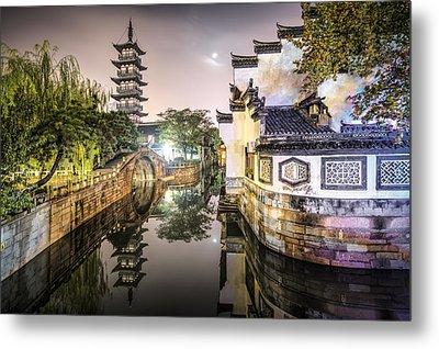 Nanxiang Ancient Town In Shanghai China Metal Print