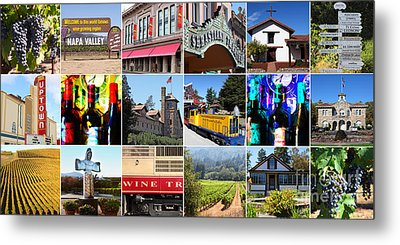 Napa Sonoma County Wine Country 20140906 Metal Print by Wingsdomain Art and Photography
