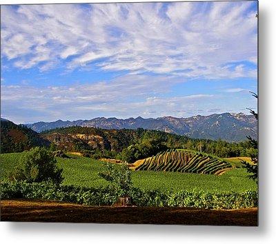Napa Valley Pride Mountain Vineyard Metal Print by Jennifer Lamanca Kaufman