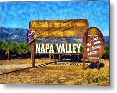 Napa Valley Sign Metal Print by Kaylee Mason