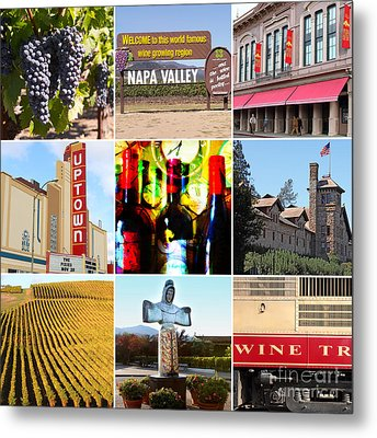Napa Valley Wine Country 20140905 Metal Print by Wingsdomain Art and Photography