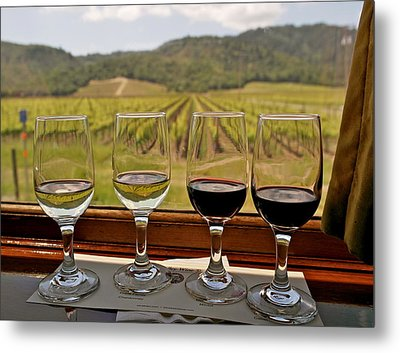 Napa Valley Wine Train Delights Metal Print by Michele Myers
