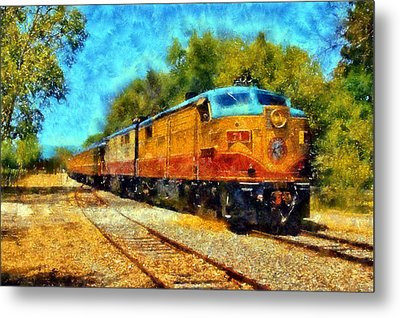 Napa Valley Wine Train Metal Print by Kaylee Mason