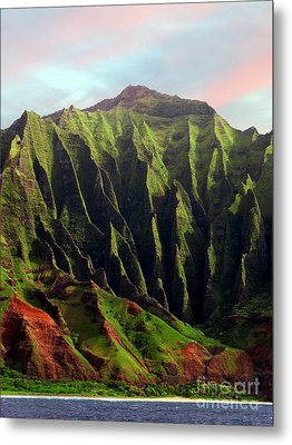 Metal Print featuring the photograph Napali Coast On Kauai  by Joseph J Stevens