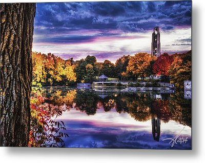Naperville In Autumn Metal Print by Anthony Citro