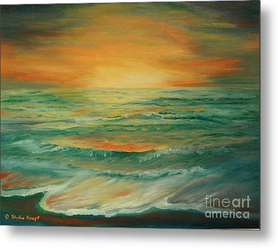 Metal Print featuring the painting Naples Mystical Sunset by Shelia Kempf