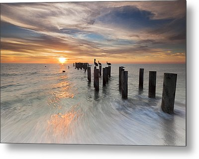 Naples Sunset Metal Print by Mike Lang