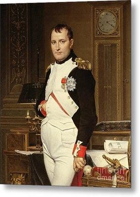 Napoleon Bonaparte In His Study Metal Print