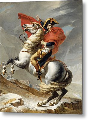 Napoleon Bonaparte On Horseback Metal Print by War Is Hell Store
