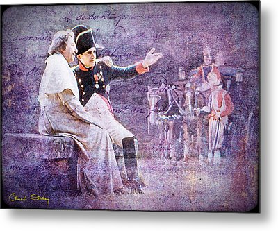 Napoleon With The Pope Metal Print by Chuck Staley