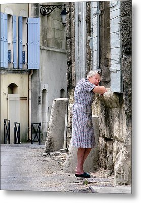 Metal Print featuring the photograph Naptime In Arles. France by Jennie Breeze