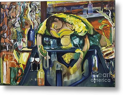 Narcisisstic Wine Bar Experience - After Caravaggio Metal Print