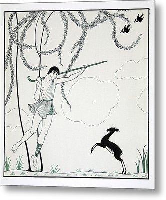 Narcisse Metal Print by Georges Barbier