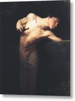 Narcissus  Metal Print by Gyula Benczur