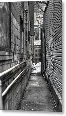 Narrow Alley Metal Print by Nicky Jameson