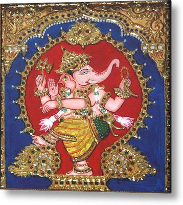 Narthana Ganapathi Metal Print by Jayashree