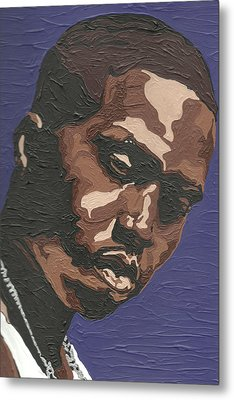 Metal Print featuring the painting Nas by Rachel Natalie Rawlins