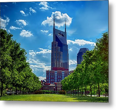 Nashville Batman Building Landscape Metal Print by Dan Holland