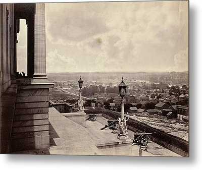 Nashville From The Capitol George N. Barnard Metal Print by Litz Collection