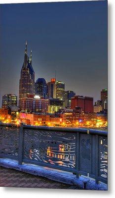 Nashville Glow Metal Print by Zachary Cox
