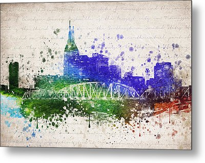 Nashville In Color Metal Print by Aged Pixel