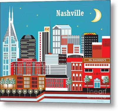 Nashville Metal Print by Karen Young